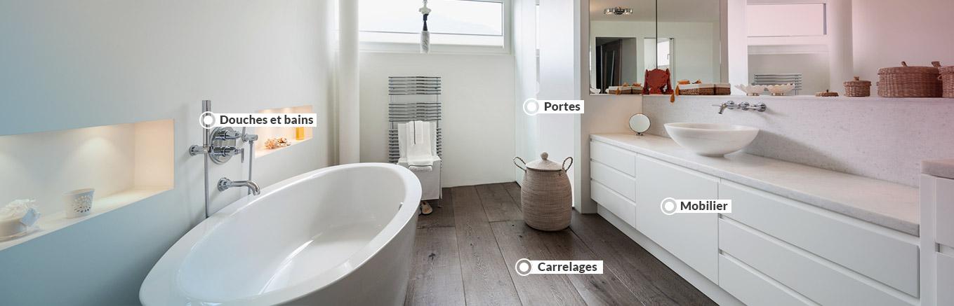 > Salles de bain sur mesure