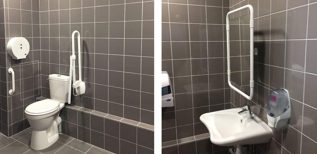 Aménagement de toilettes PMR