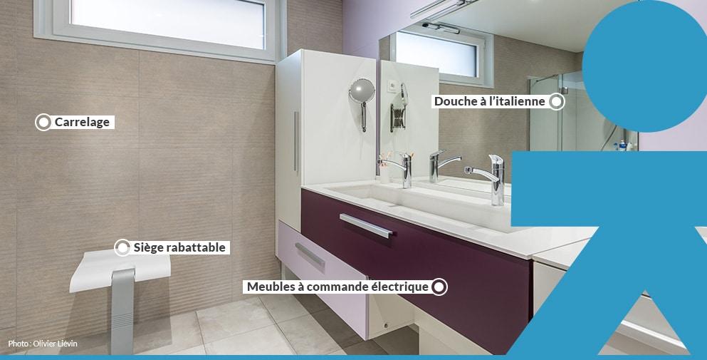 Salle de bain PMR sur mesure